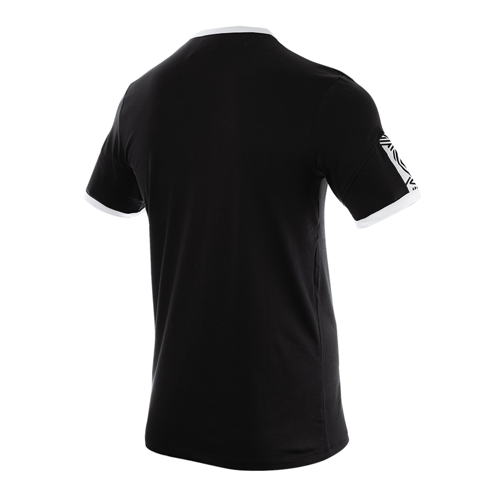 65657U-FL3 RINGER TAPED LOGO TEE BLACK / BRILLIANT WHITE