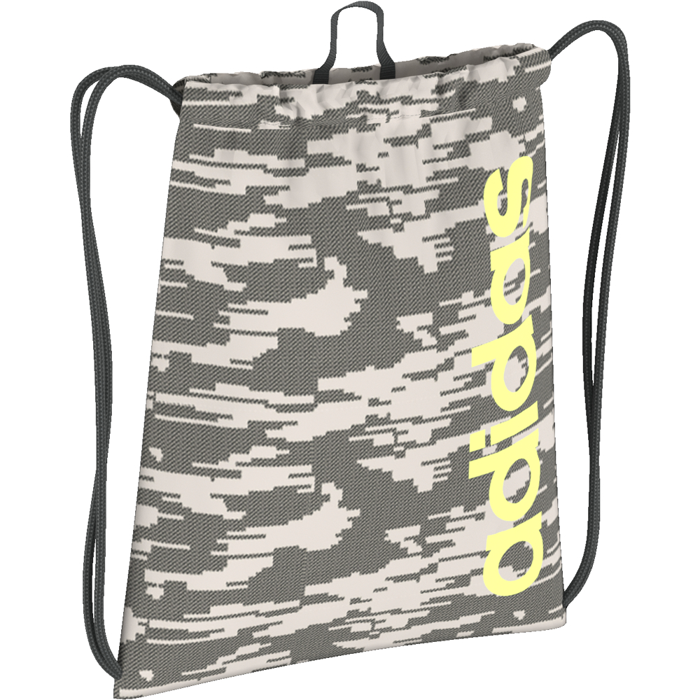 LINEAR CORE GYM SACK GRAPHIC raw white/legend ivy/hi-res yellow