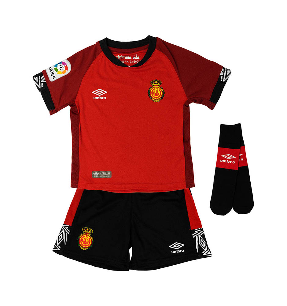 SUIT RCD MALLORCA HOME'19 RED / DARK RED / BLACK / WHITEBOX RCD MALLORCA 1ª EQUIPACIÓN
