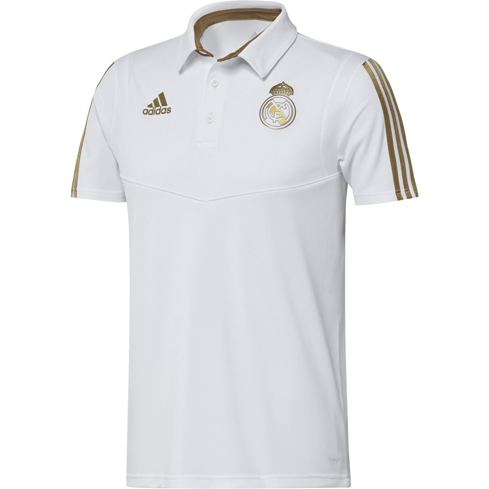 DX7858 REAL MADRID POLO white/dark football gold