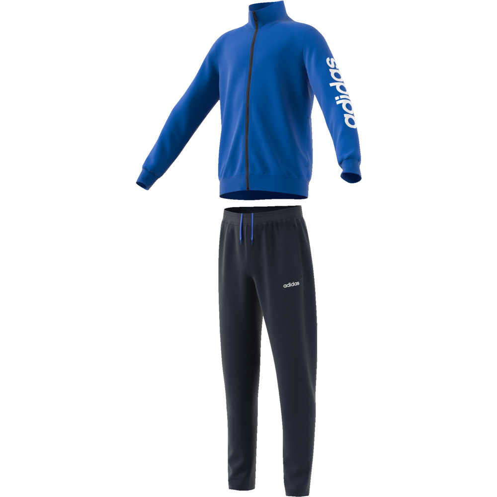 EI7961 Youth Boys Tracksuit Polyester blue/white