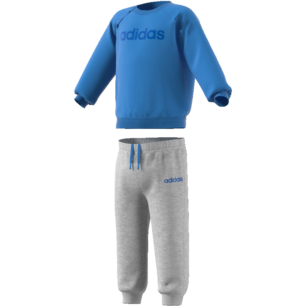 EI7963 Linear Jogger Fleece real blue/medium grey heather/blue