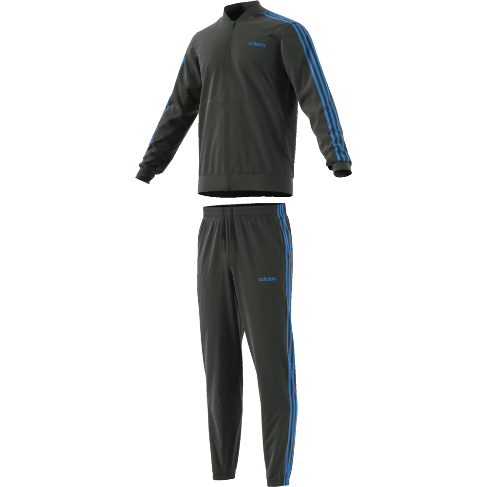 FJ5654 Back to Basic 3 Stripes Tracksuit legend earth/legend earth/real blue