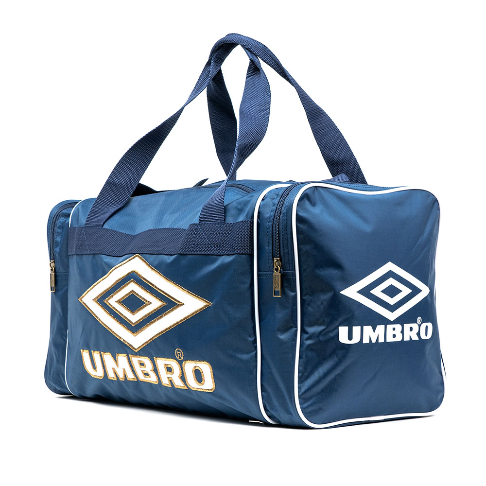 30775U-C5D RETRO SMALL HOLDALL BLUE / WHITE / BRONZE