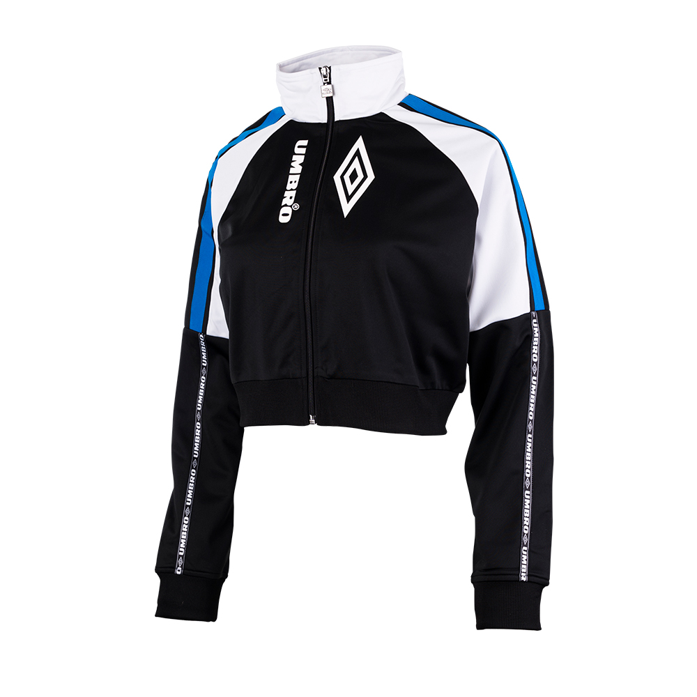 C20021-BS0-ALBA TRACK JACKET - WMNS BLACK / WHITE / ELECTRIC BLUE