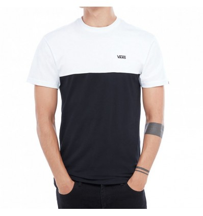 VN0A3CZDY281 MN COLORBLOCK TEE BLACK/WHITE