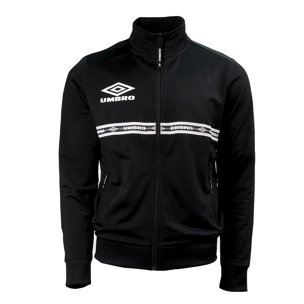 TAPED TRACK TOP BLACK