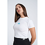 UMBRO FITTED CROP TEE - WMNS WHITE / SCUBA